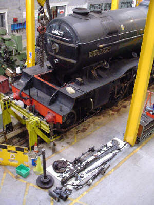 V2 Green Arrow, at the York Workshop with a centre motion failure (August 2005)