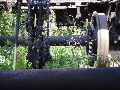 Axles and gears on No. 68153