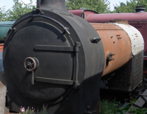 The boiler from the disassembled Y7 No. 1310 at the Middleton Railway