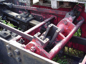 Motion detail on the disassembled Y7 No. 1310 at the Middleton Railway