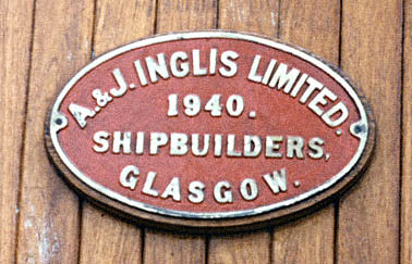 Lincoln Castle builder's plate in 1974 (c. K.Halton)