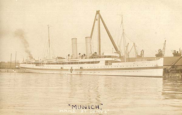 Munich as hospital ship (c. G.Robinson)